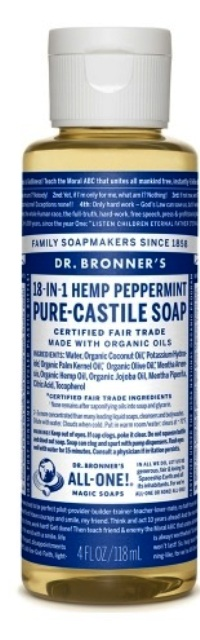Dr. bronner's soap liquid peppermint image main view