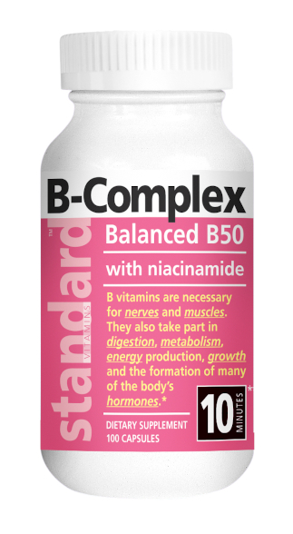 STANDARD VITAMINS B-Complex 100 Capsules main product image view