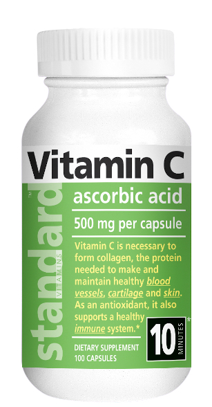 Standard Vitamins Vitamin C 500mg 100 Capsules Main product image view