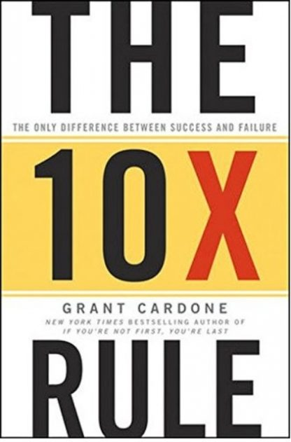 The 10X Rule image main front cover