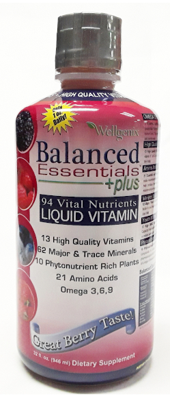 Wellgenix Balanced Essentials Liquid Nutritional Supplement, 32 Ounces main