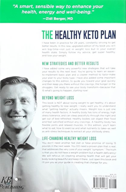 the healthy keto plan by dr eric berg back cover