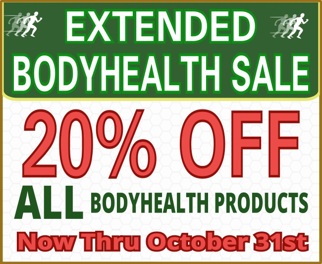 extended bodyhealth savings 20 percent off until october 31st promo graphic