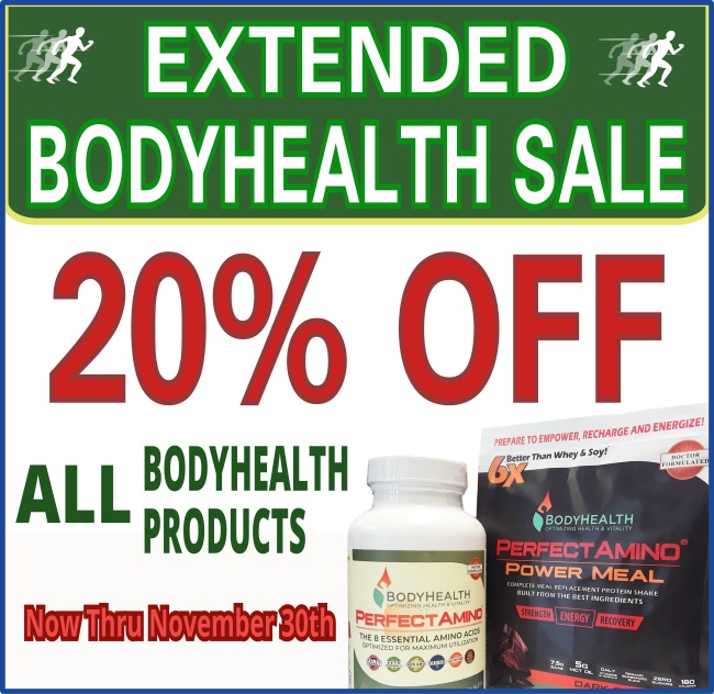 november extended bodyhealth sale 20 percent off from now until november 30th