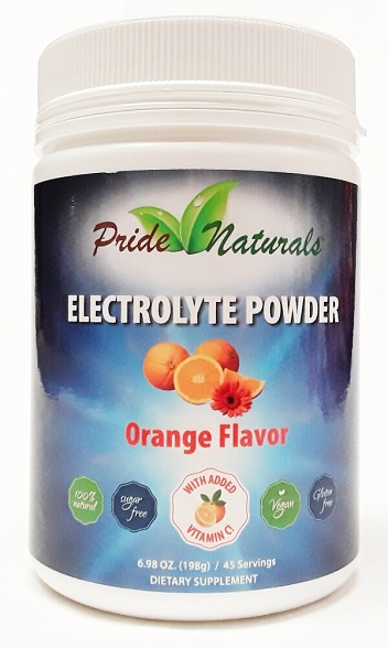 Pride Naturals Electrolyte Powder Orange main product image view