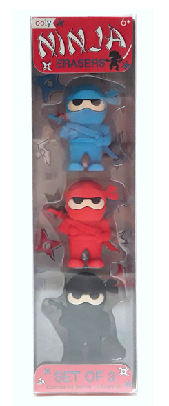 Ooly Ninja Erasers product image view main