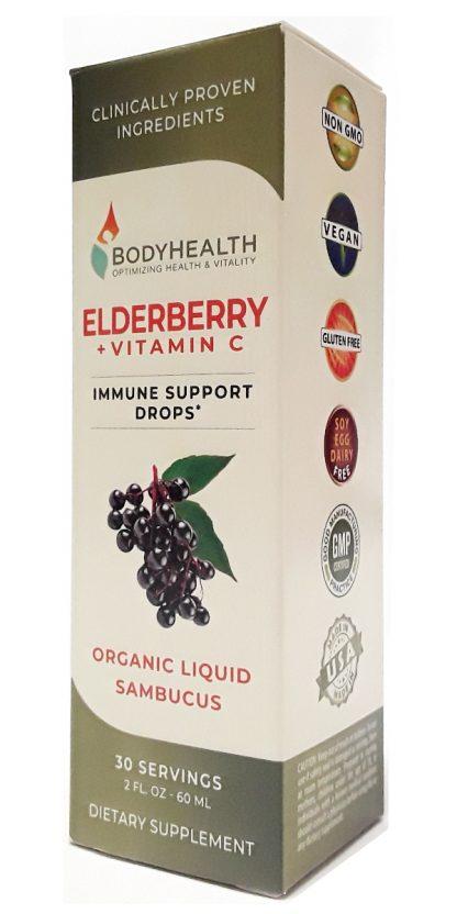 BodyHealth Elderberry + Vitamin C Immune Support Drops (2)