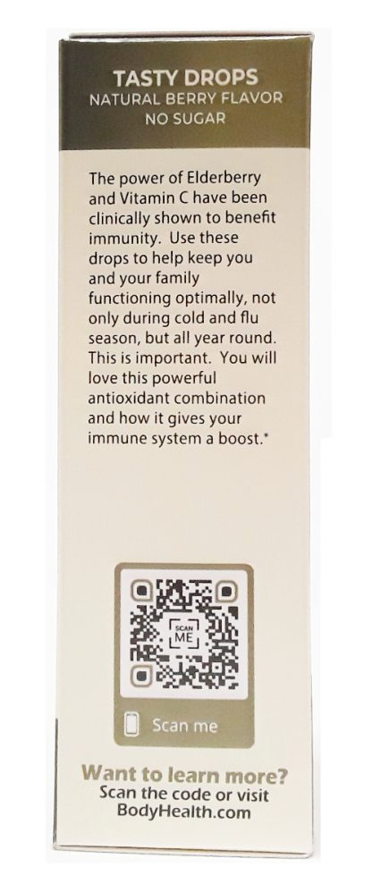BodyHealth Elderberry + Vitamin C Immune Support Drops (4)