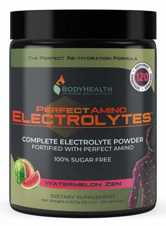 BodyHealth Perfect Amino Electrolytes Powder, 100 servings, Watermelon Zen Flavor, 22oz (1)
