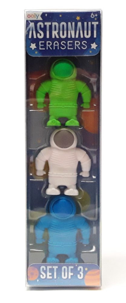 Ooly astronaut erasers - set of 3 product image view main
