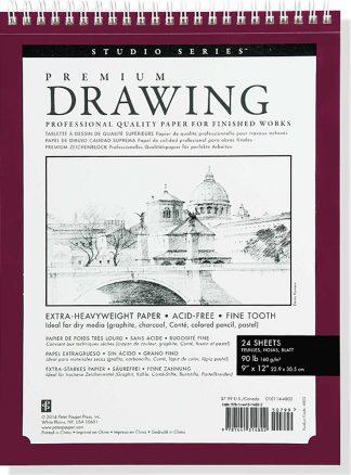 STUDIO SERIES PREMIUM DRAWING PAD 9 x 12 (1)