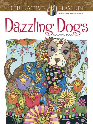 Creative Haven Dazzling Dogs Coloring Book maintemp