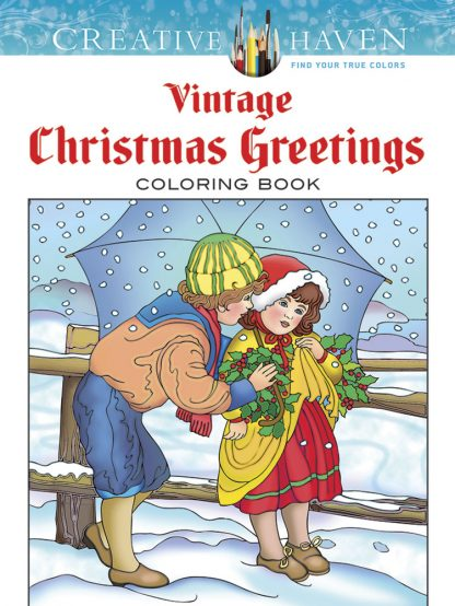 Creative Haven Vintage Christmas Greetings Coloring Book maintemp