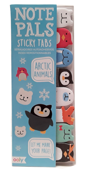 Ooly Note Pals Sticky Tabs arctic animals main