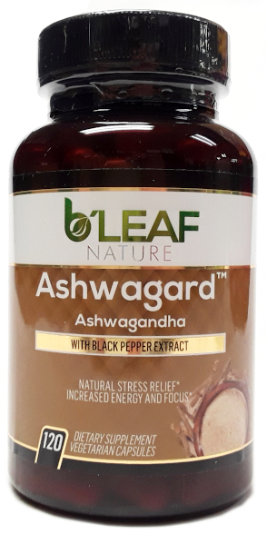 B'Leaf Nature Ashwagard Ashwagandha Root 120 Capsules product image main