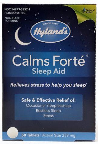Hyland's Calms Forte Sleep Aid 259mg 50 Tablets main
