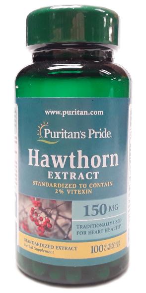 Puritan's Pride Hawthorn Extract 150mg 100 Tablets main