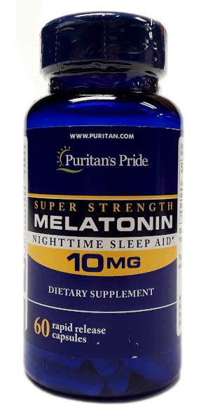 Puritan's Pride Melatonin Super Strength 10mg 60 Capsules (1)