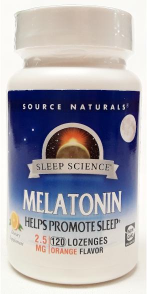 Source Naturals Melatonin 2.5mg 120 Lozenges Orange Flavor main