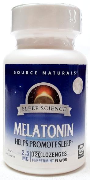 Source Naturals Melatonin 2.5mg 120 Lozenges Peppermint Flavor main