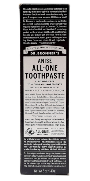 Dr. Bronner's All-One Anise Toothpaste 5oz main