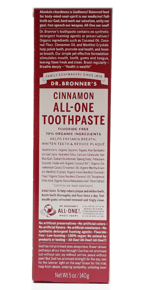 Dr. Bronner's All-One Cinnamon Toothpaste 5oz main