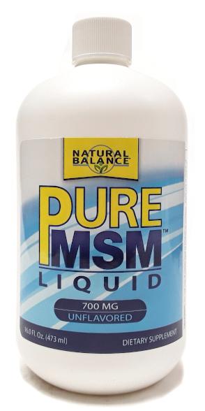 Natural Balance Pure MSM Liquid 700mg Unflavored Main