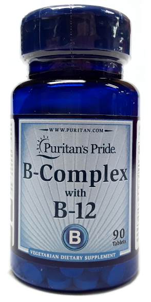 Puritan's Pride B-Complex with B-12 90 Tablets main