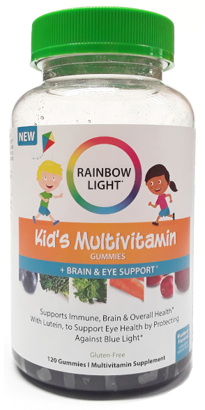 Rainbow Light Kid's Multivitamin Gummies With Brain and Eye Support 120 count (4)