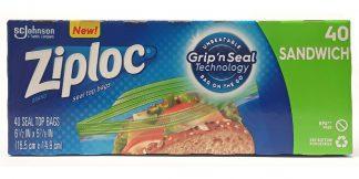 Ziploc Seal Top Sandwich Bags, 40 Count