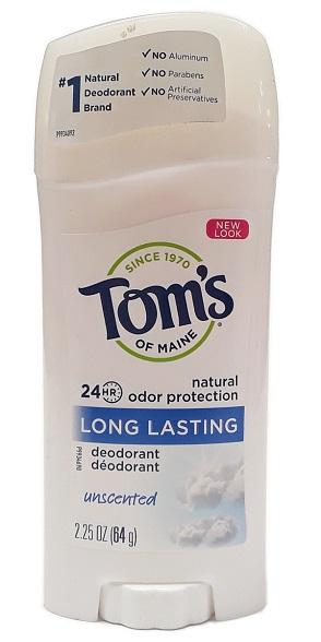 Tom's of Maine Long Lasting Deodorant Unscented 2.25oz main