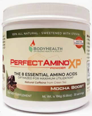 BodyHealth PerfectAminoXP Mocha Boost Powder 6oz 30 Servings Main