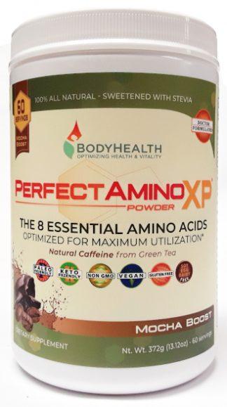 BodyHealth PerfectAminoXP Mocha Boost Powder 6oz 60 Servings main