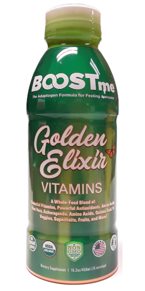 Boostme Golden Elixir Organic Multivitamins 15oz main