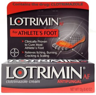 Lotrimin Antifungal for Athlete's Foot Clotrimazole Cream .42oz main