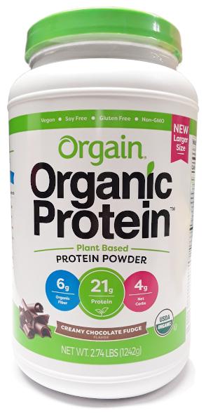 Orgain Organic Protein Plant Based Protein Powder Chocolate 2.7lbs main
