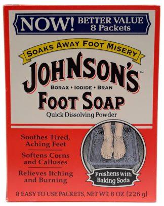 Johnson's Foot Soap 8 packets, 8oz main