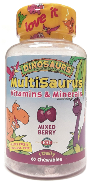 KAL Dinosaurs Multisaurus Vitamins and Minerals 60 Chewables main