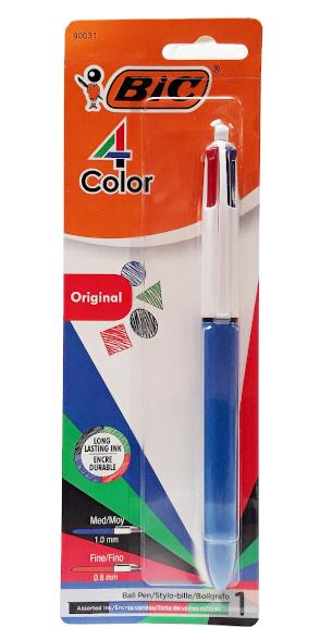 BIC 4 Color original Ball Pen 1.0mm main