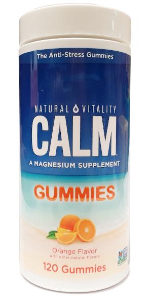 Natural Vitality Calm Gummies Orange Flavor 120 Gummies main