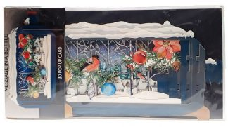 Message in a Bottle 3D Pop Up Greeting Card Robin in Forest main